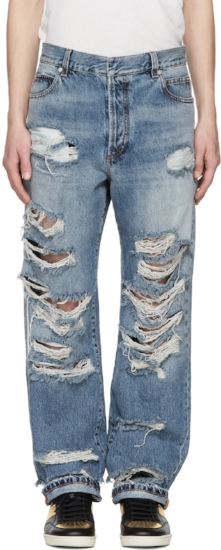 Baggy Destroy Jeans ($270), by Balmain