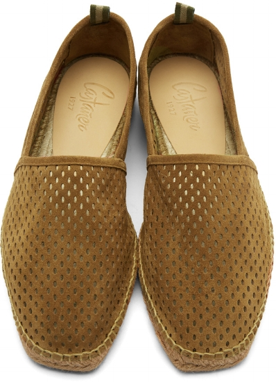 Perforated Suede Pablo Espadrilles ($96), by Castañer