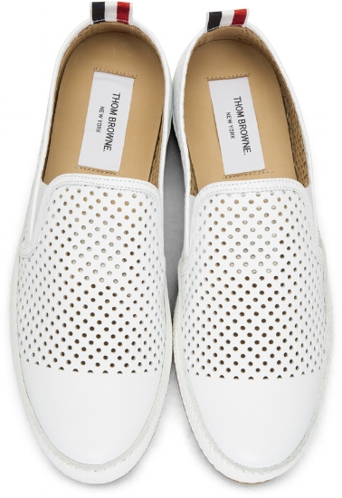 Perforated Leather Espadrilles ($420), by Thom Browne