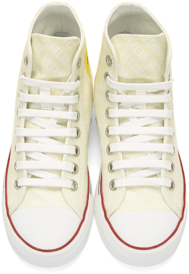 Canvas Emoji High-Top Sneakers ($403), by Vetements