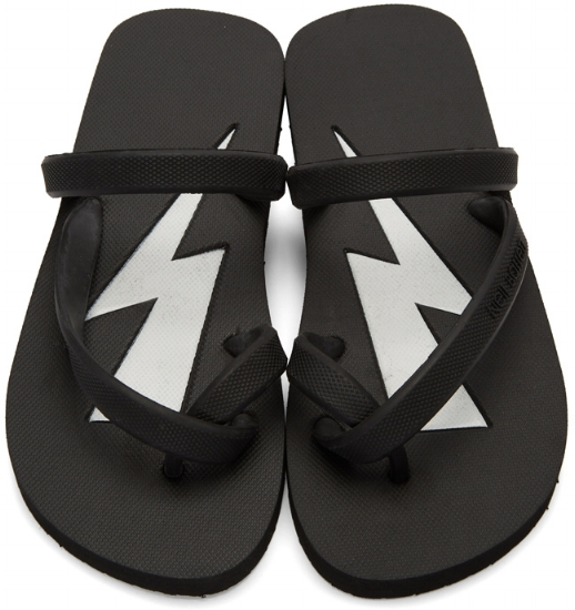 Rubber Thunderbolt Flip-Flops ($47), by Neil Barrett