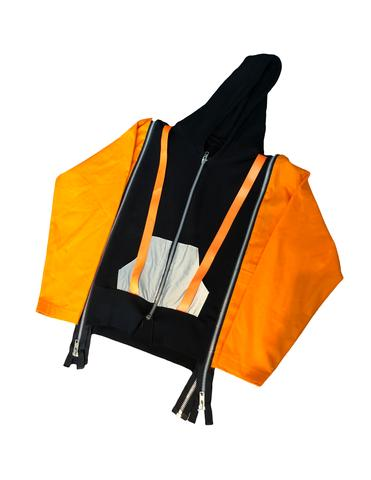 3M Reflective Strapped Zip Hoodie, $175