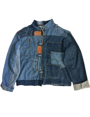 Upcycle Denim Jacket, $200