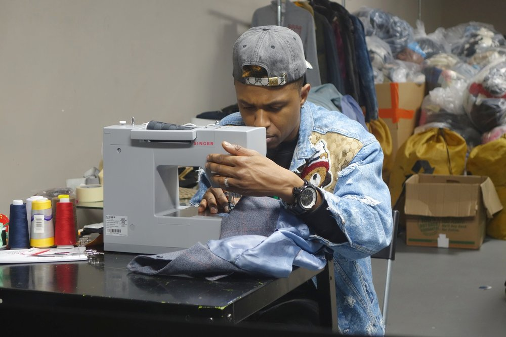 Fashion designer Royal at FABSCRAP's Customization Dept.