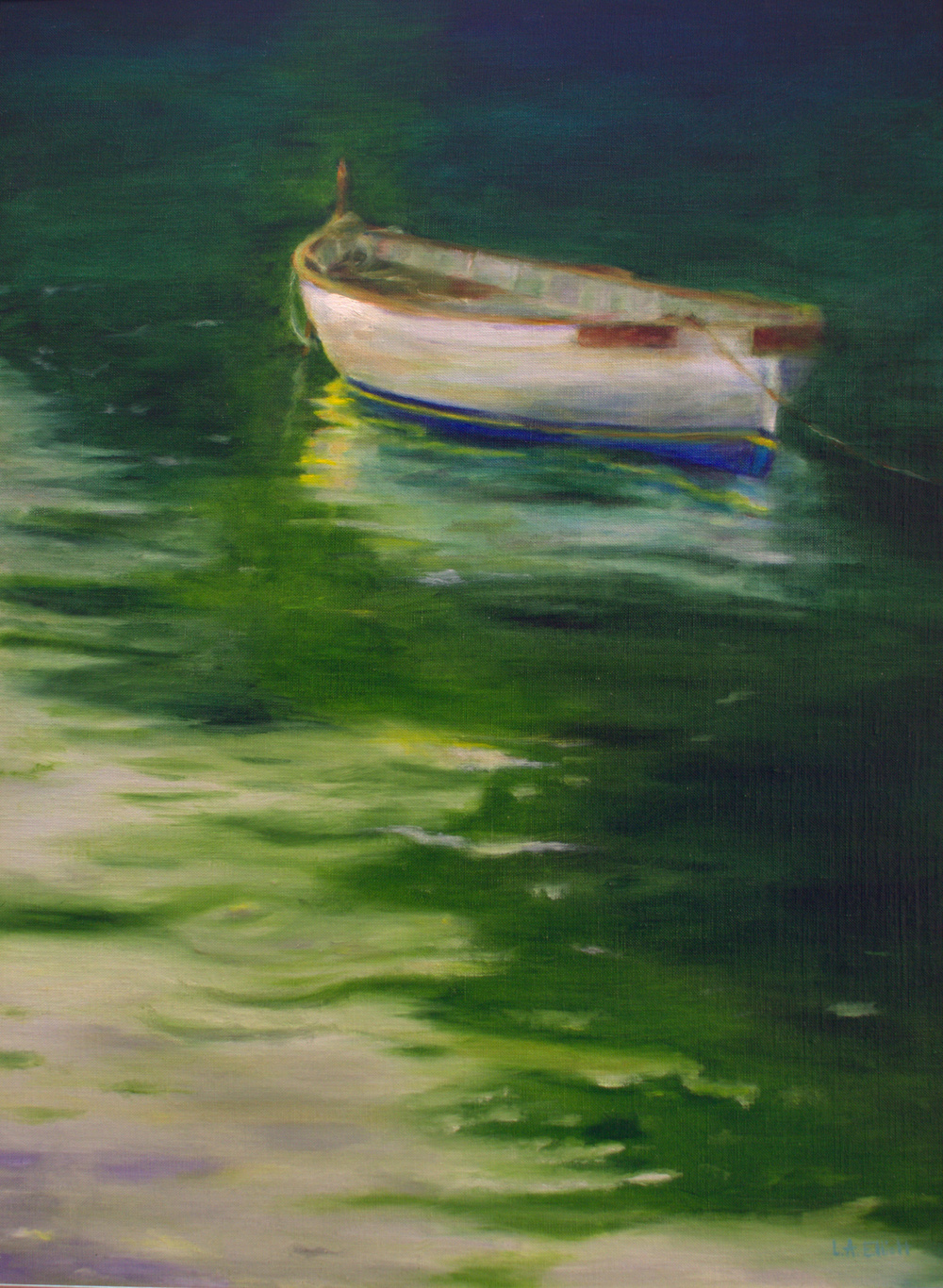 Rowboat on Still Waters
