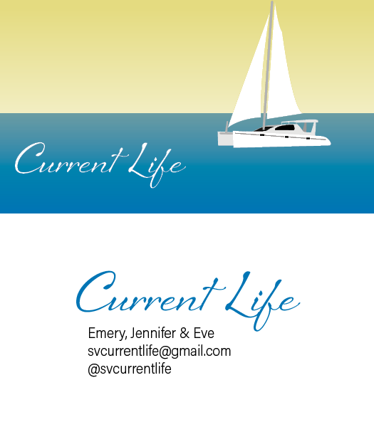 Business cards for sailing vessel  Current Life