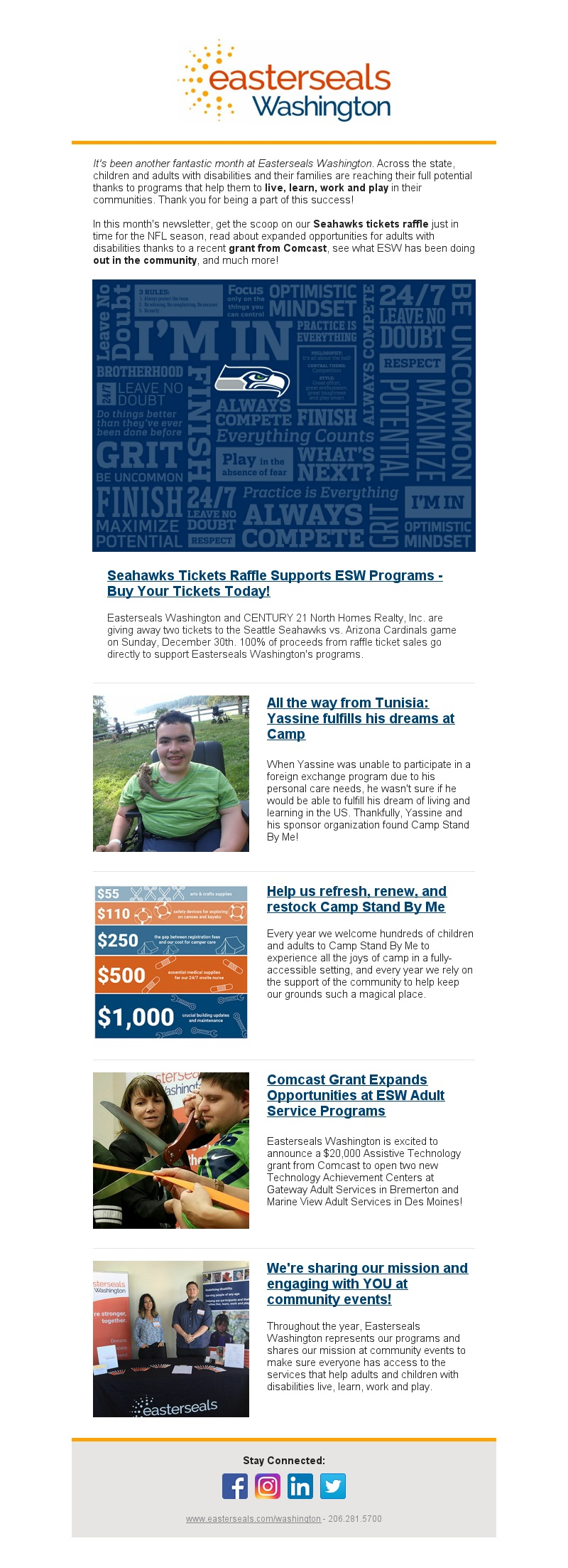 Easterseals E-newsletter