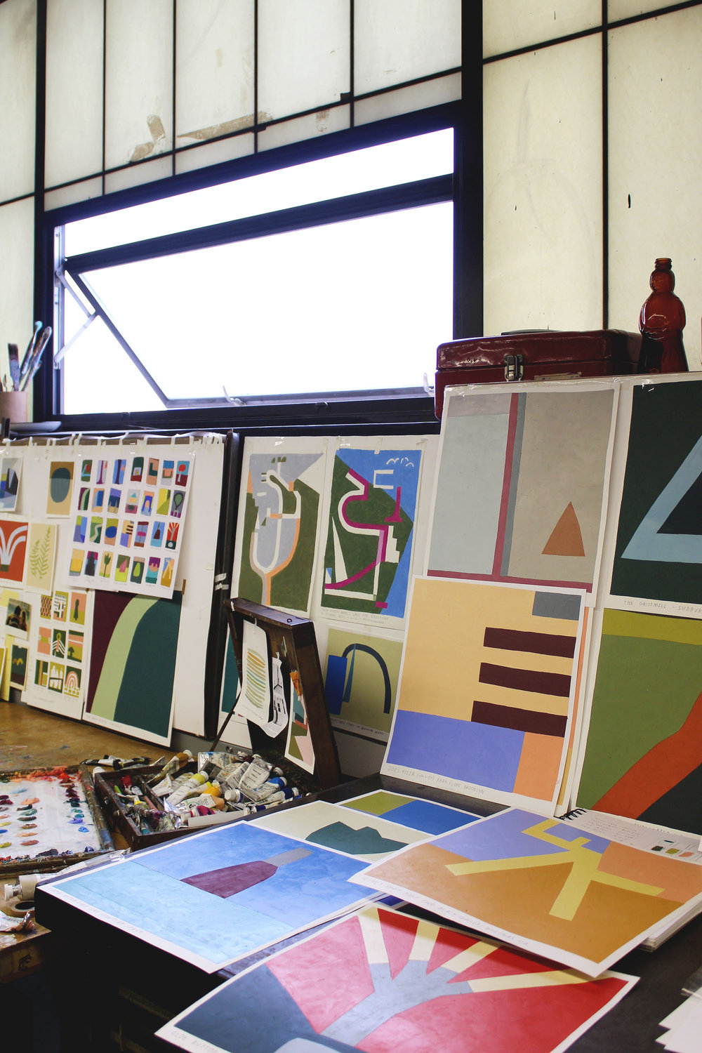 Kristin Texeira Studio Visit with Calhoun & Co. Art in the Home Brooklyn