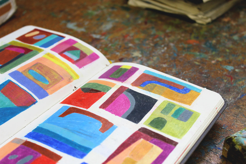 Kristin Texeira Studio Visit with Calhoun & Co. Art Artist Sketchbook