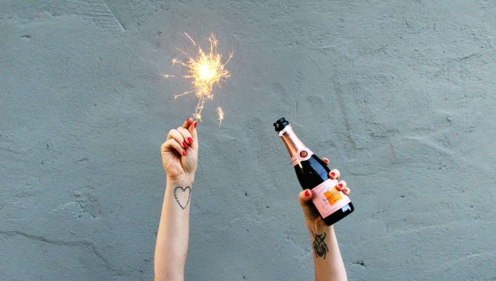 Calhoun & Co. First Birthday — Brooklyn Veuve Clicquot - Celebration - Sparklers