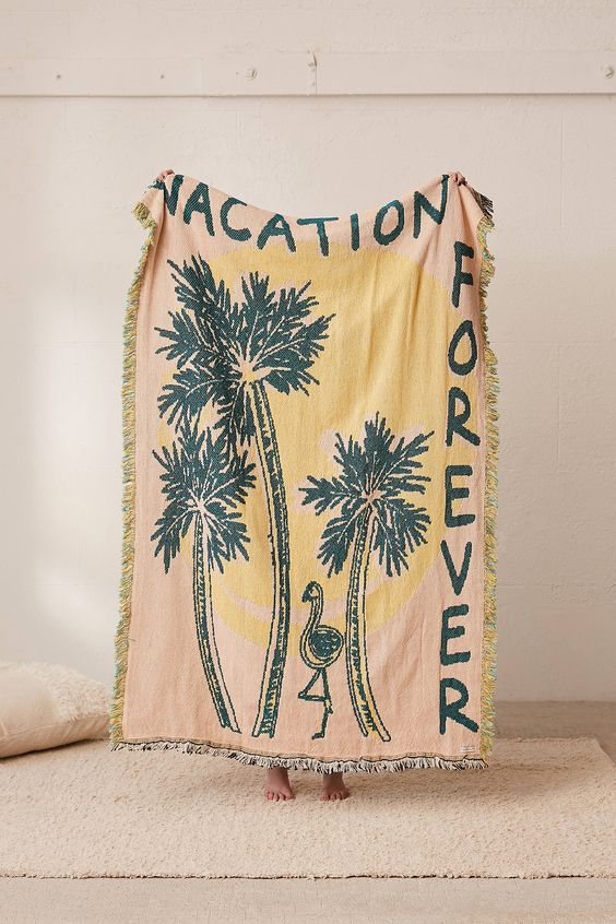 Vacation forever - UO exclusive - Calhoun & Co. Brooklyn NY Blankets