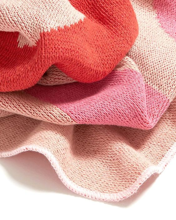 Pink Knit Blanket - collaboration with ban.do and calhoun & co.