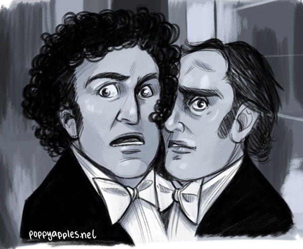 I had a big crush on Gene Wilder when I was a kid and can you blame me? Blazing Saddles, Young Frankenstein and my all-time favourite - Sherlock Holmes' Smarter Brother. The scene in the buzzsaw room, followed by the butt-naked ballroom dancing? Be still, my queer heart!