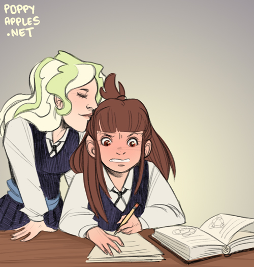 Akko and Diana from Little Witch Academia