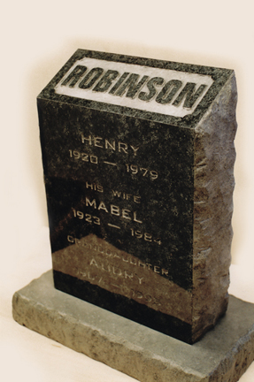 Fake granite tomb stone prop