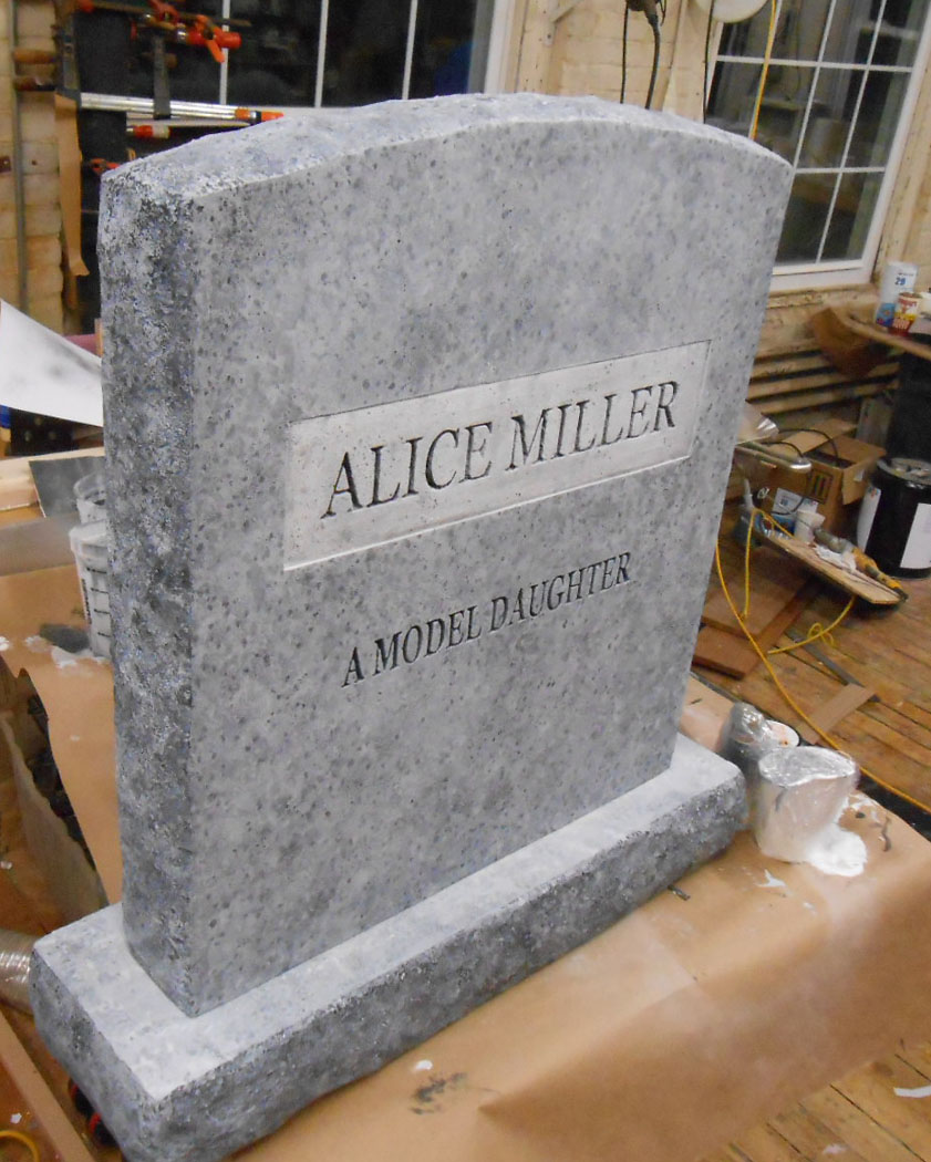 Fake tombstone prop