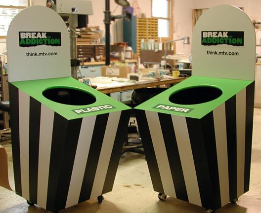 MTV recyling bins
