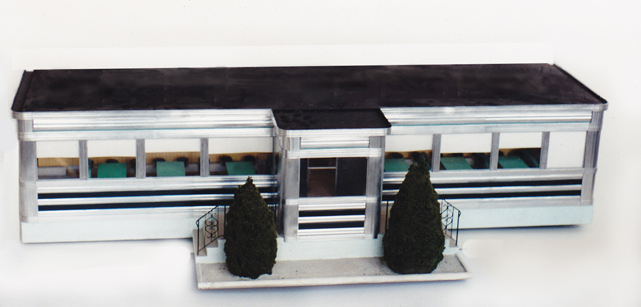 Miniature metal diner model