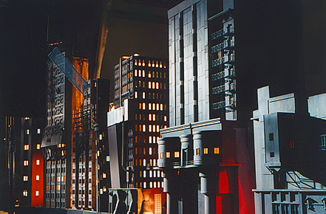 Miniature Gotham city model