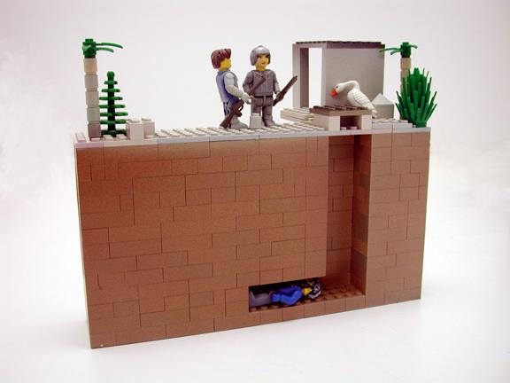 Saddam's Lego hidey hole