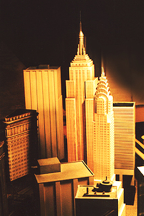 Miniature New York buildings