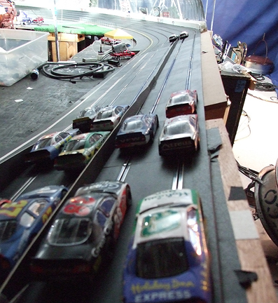 slot car race for Nascar