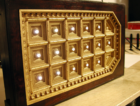 Miniature coffered ceiling model