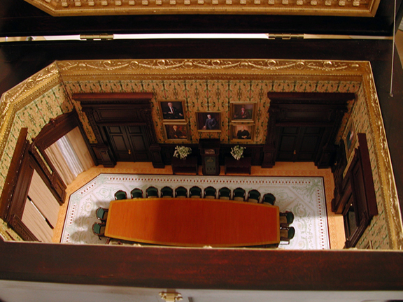 Metlife miniature board room model
