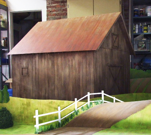 Miniature barn scene