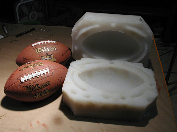 cast foam footballs