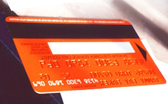 Giant credit card prop for Comedy Central