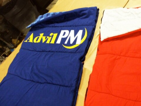 Advil pm sleeping bags