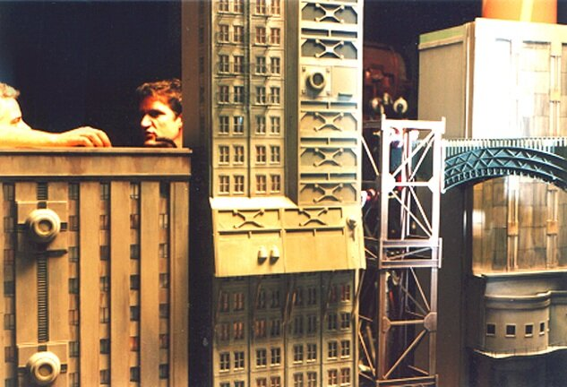 Miniature Gotham city models