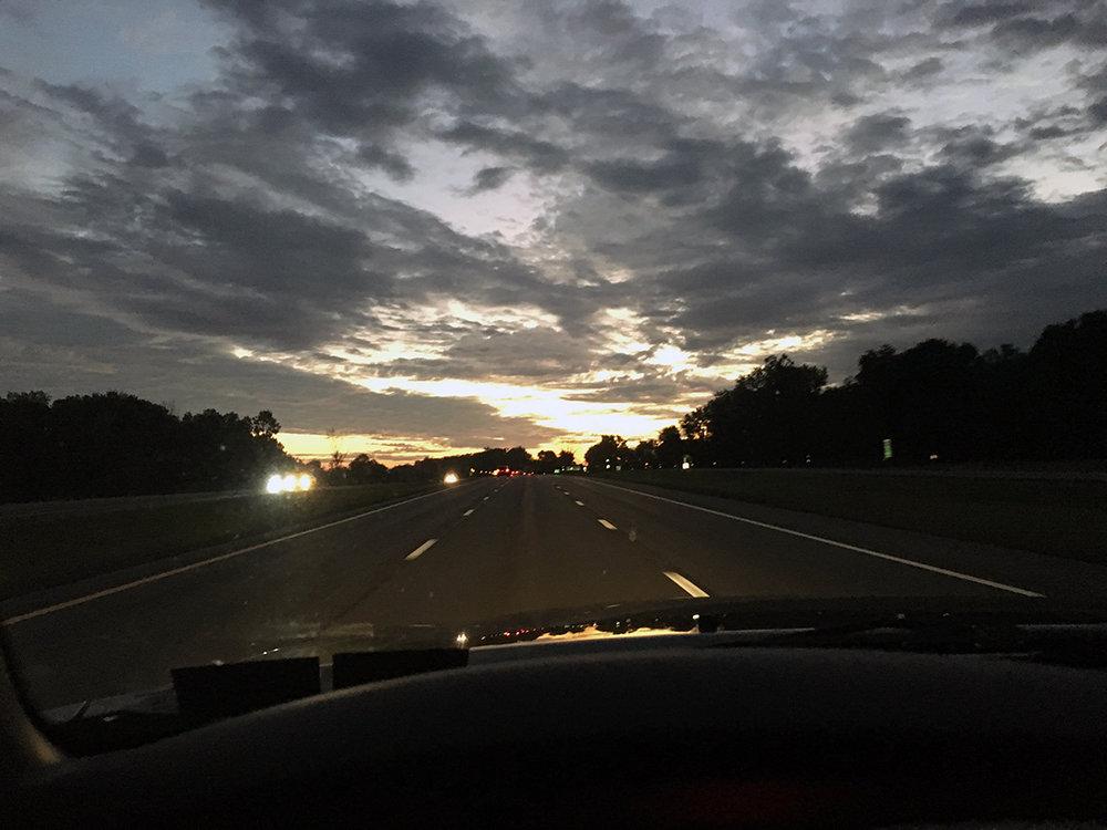 Dawn breaking on I-81 N as I drove to Pulaski.