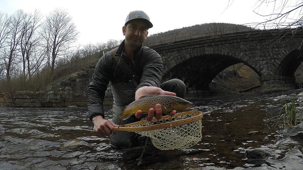 Another one of the beautiful brown trout I caught on Sunday.