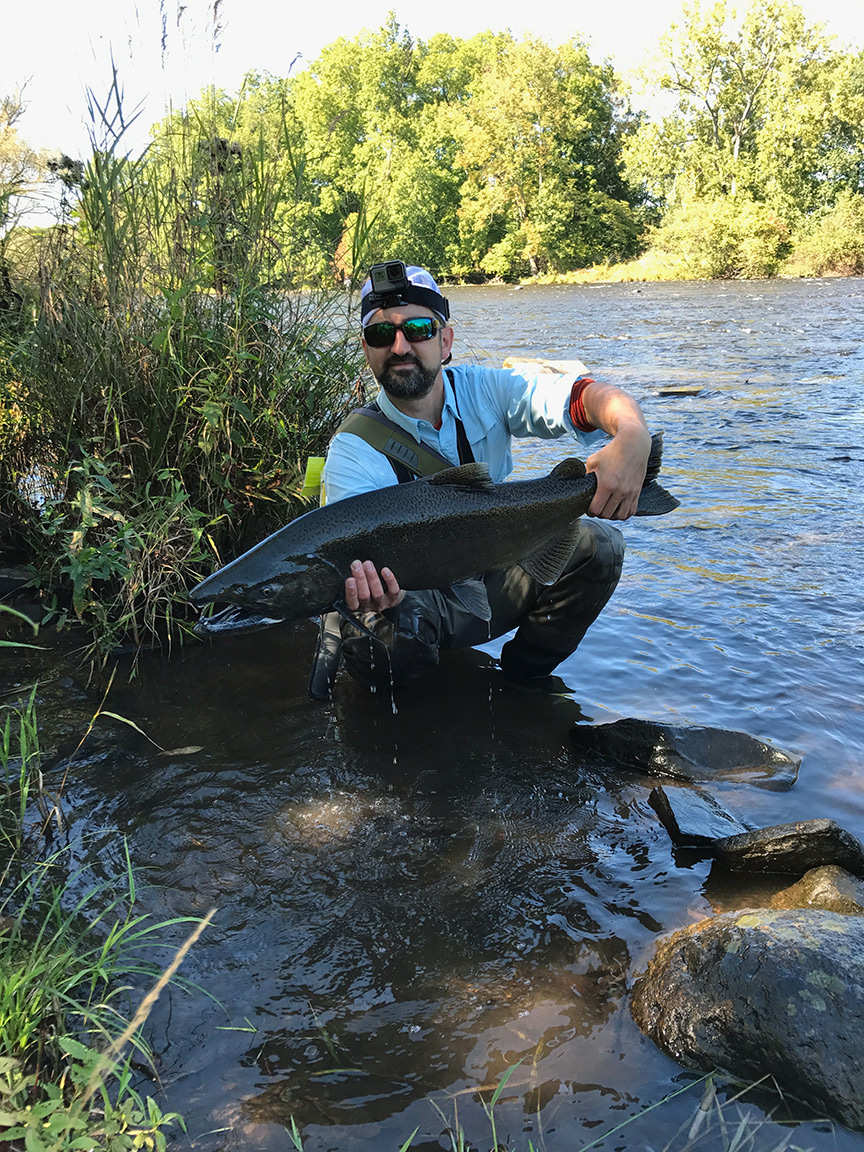 A giant King salmon that took me for a long walk down the river.