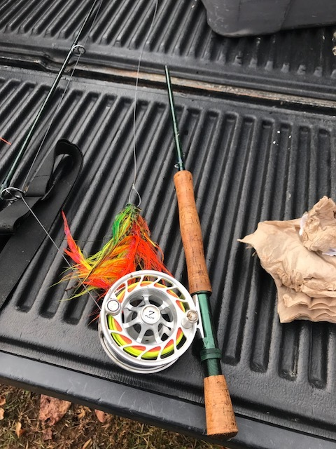 A picture of my broken fly rod.
