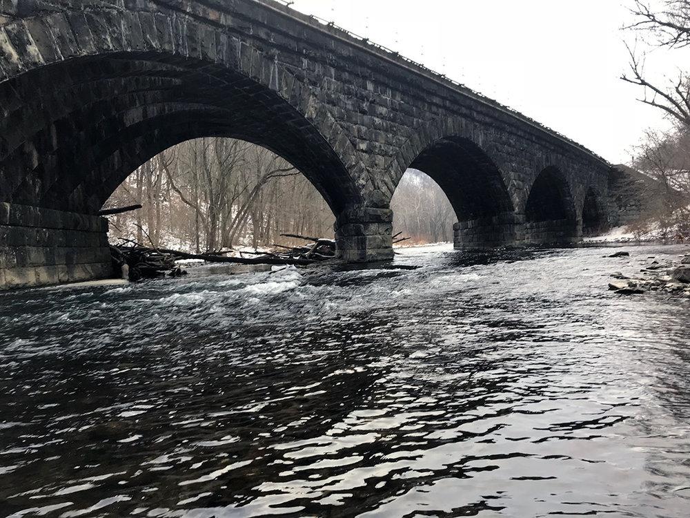A classic scene on the Little Juniata River.