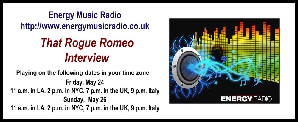 Radio Interview with That Rogue Romeo coming soon on a web radio station in the UK. http://www.energymusicradio.co.uk/  SHARE THIS #Music #ThatRogueRomeo #Interview