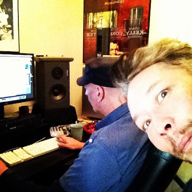 Doing some detail work on a track w Marc Jackson! RAWK (Taken with instagram)