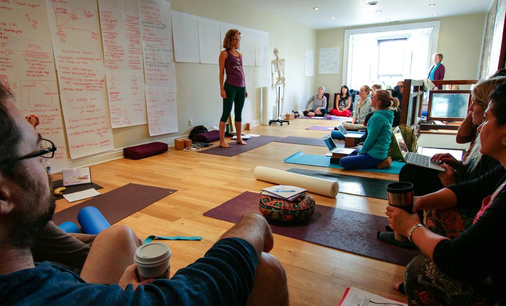 Sarah Court teaching Quantum Leap Workshop at Connect Yoga