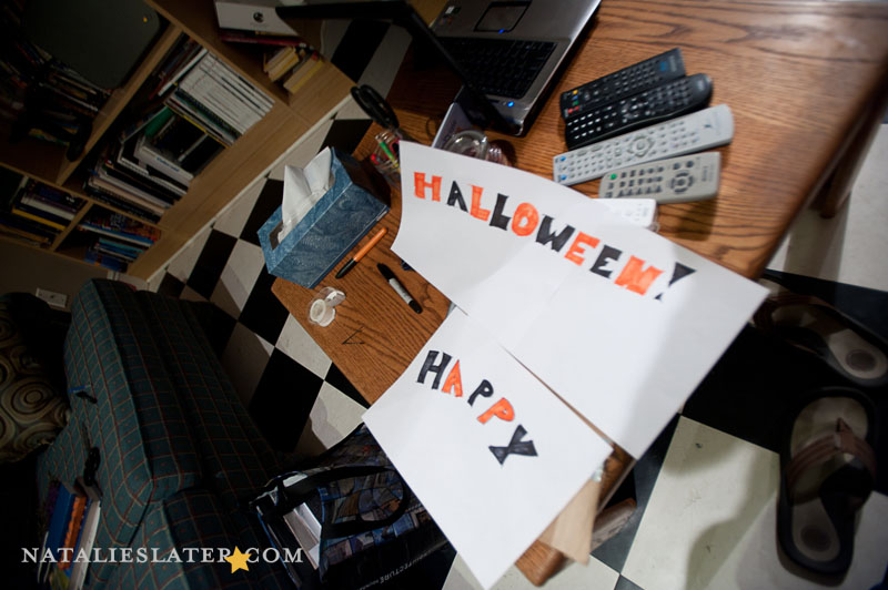 Making the Halloween Sign