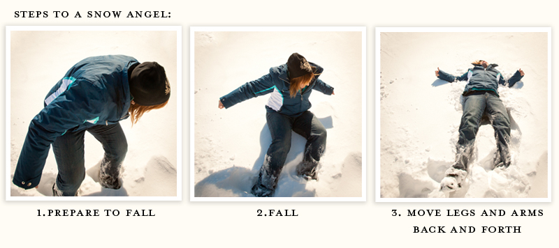 Snow Angel Steps 1-3