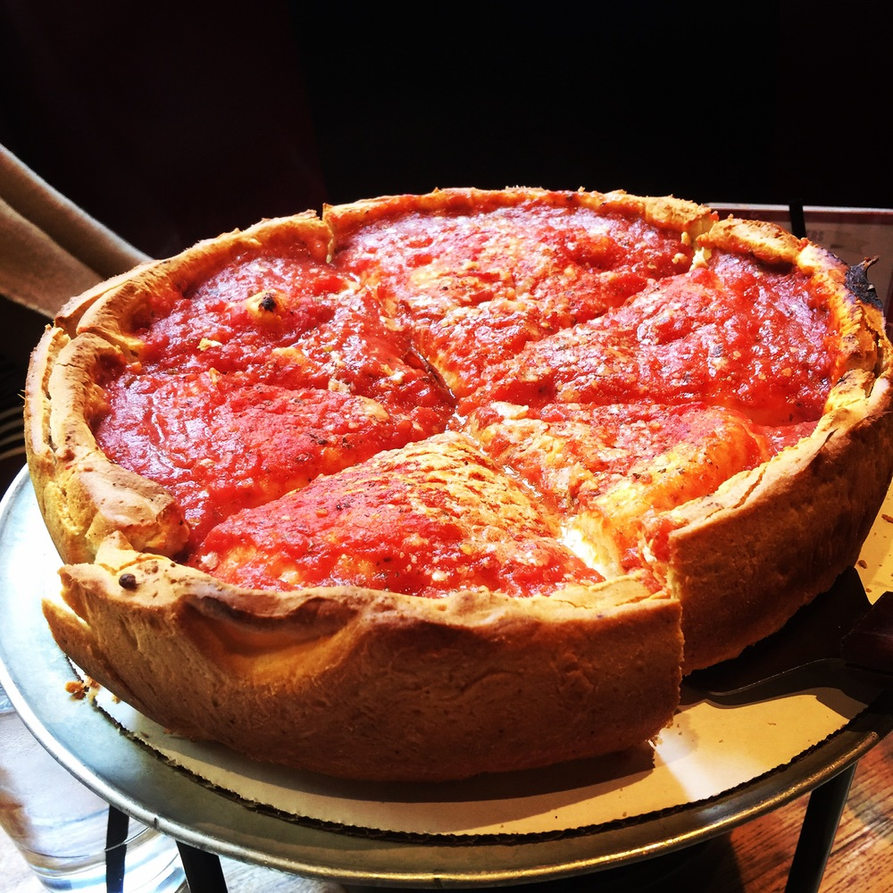 Beautiful, gorgeous, deep dish pizza.