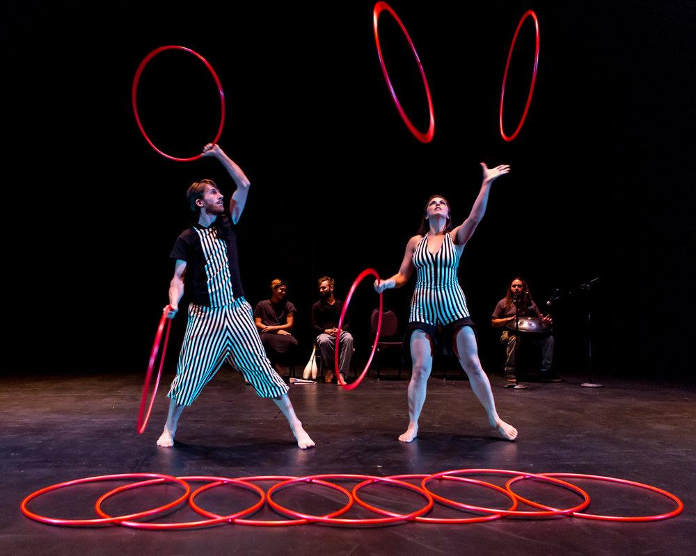 Hooping - Juggling Five in Stripes.jpg