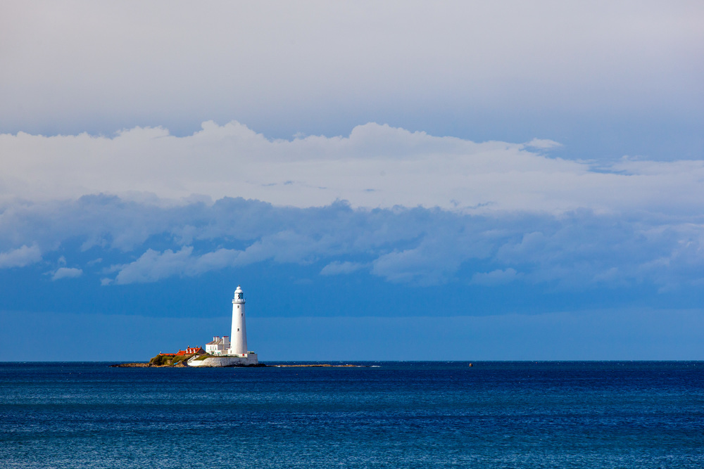 St. Mary's Lighthouse in Whitley Bay - Northumbria upon Tyne, UK.