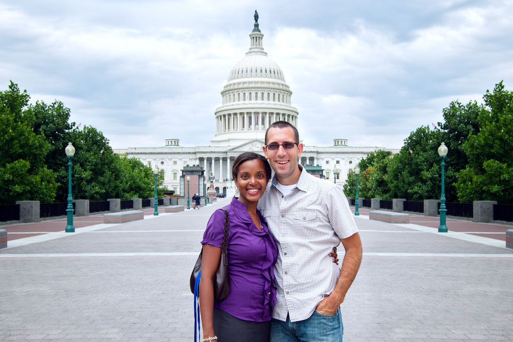 Avi & Josh at the United States Capitol Building.