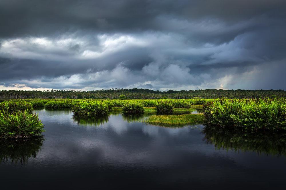 Gloomy skies over Icacos, Trinidad.
