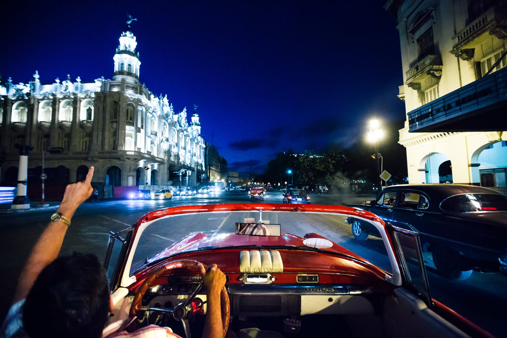 Riding around in a 1950's Buick...