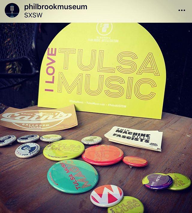We love our Tulsa partners putting 🎵 #tulsamusic 🎶 on the map! Thanks @philbrookmuseum & @scottstulen. #webbbranding #sxsw2019 #tulsamusic #tulsaatsxsw #createdintulsa #sxsw #tulsa